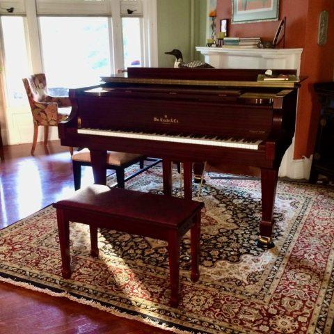 knabe grand piano in satin mahogany