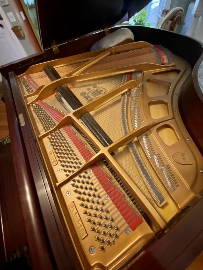 knabe grand piano soundboard