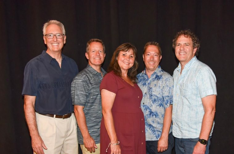 NAMM Board of Directors including Joel Menchey, pose for a photo.