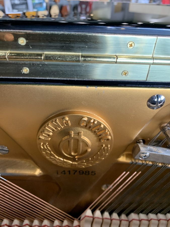 Young Chang 48 Inch Upright Inside Emblem View