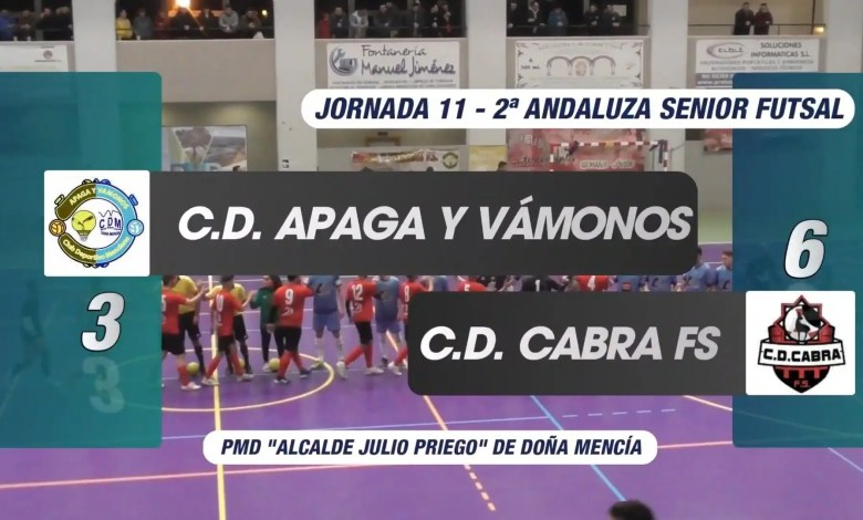 Photo of Mencisport TV | Resumen Apaga y Vámonos FS 3-6 C.D. Cabra F.S. | 2ª Andaluza Sénior FS Jor.11