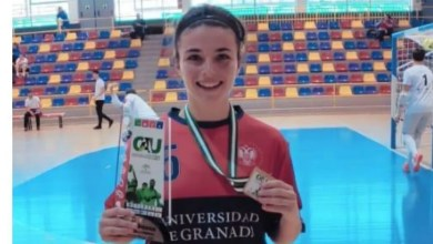 Photo of Manoli Caballero campeona de Andalucía universitaria con la UGR
