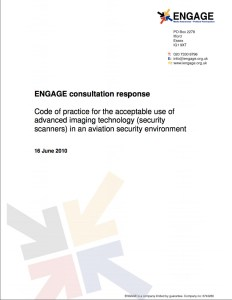 Consultation Response on the Acceptable Use of Advanced Imaging Technology in an Aviation Security Environment (2010)