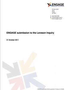 Submission to the Leveson Enquiry (2011)