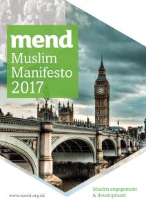MEND Muslim Manifesto (General Election 2017)