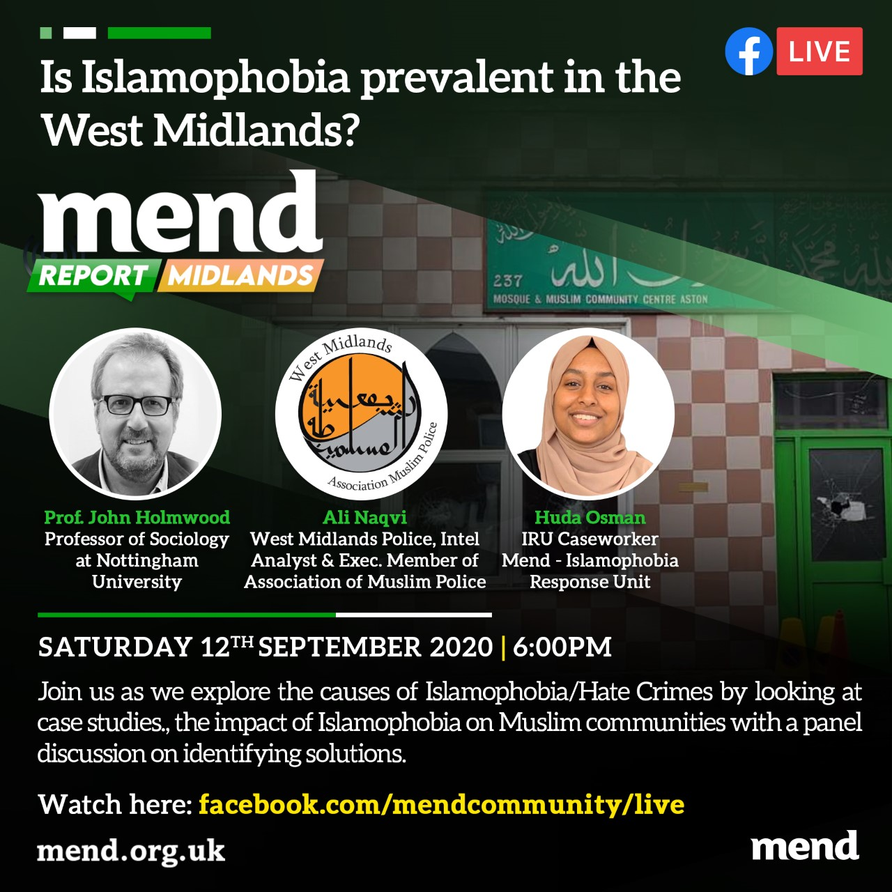 MEND report Midlands: Is Islamophobia prevalent in the West Midlands?