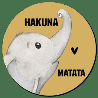 Wandcirkel/Wandsticker Hakuna Matata