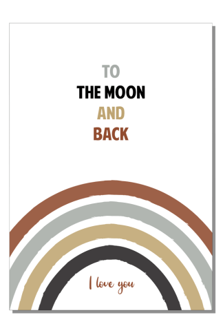 Kinderkamer poster To the moon and back