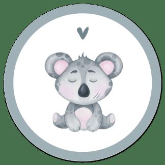 Wandcirkel/Wandsticker koala junglediertje