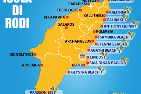 mappa delle spiagge di rodi » Full HD MAPS Locations - Another World ...