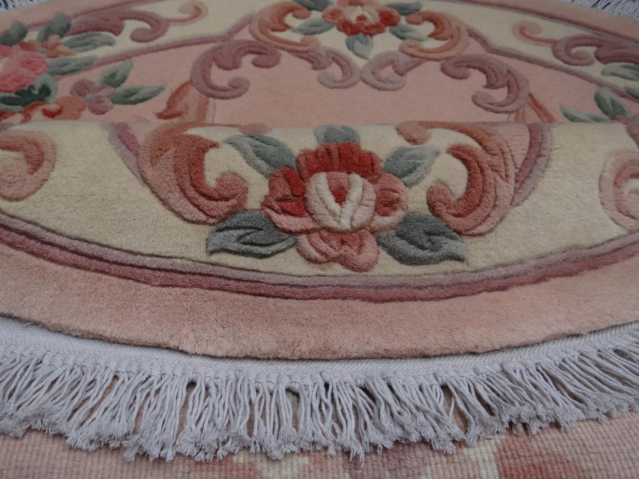 kangshi aubusson rond beige ro