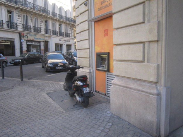 Oh this is where people stand to use the ATM? LIKE I GIVE A SHIT