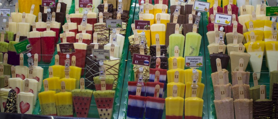 Ice lolly shop was impressive