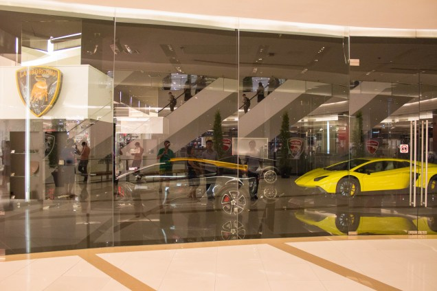Car showroom IN the mall