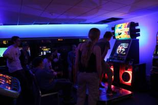 DDR was pretty busy throughout the night