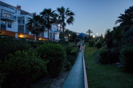Path to our resort at night