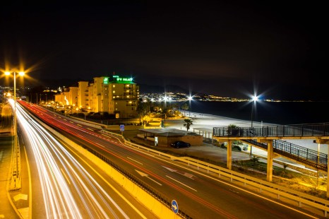 Shot from the overpass near our resort