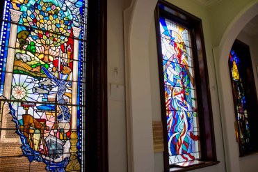 City hall stained glass