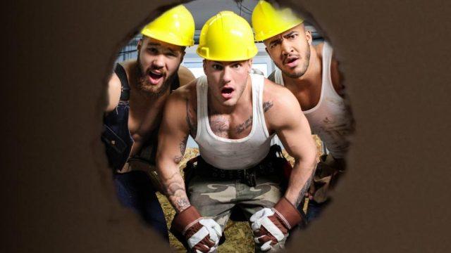 Partouze d'ouvriers sur le chantier