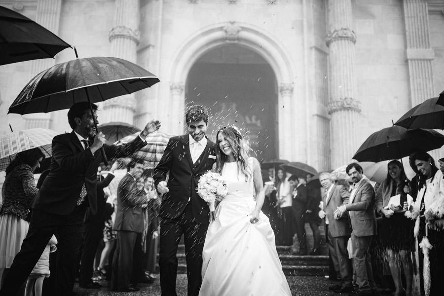fotografia de casamento Sameiro com arroz e nevoeiro