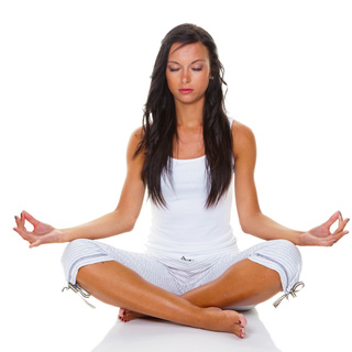 http://www.dreamstime.com/stock-image-young-woman-yoga-training-image21118311
