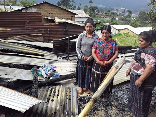 Baltazar Tambriz's house was burned during the land conflict_