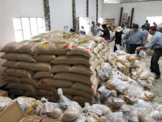 CAM food distribution in Coban
