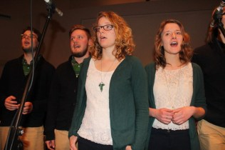 Bethany College group Beck and Call led delegates in songs of worship. Photo by Gladys Terichow