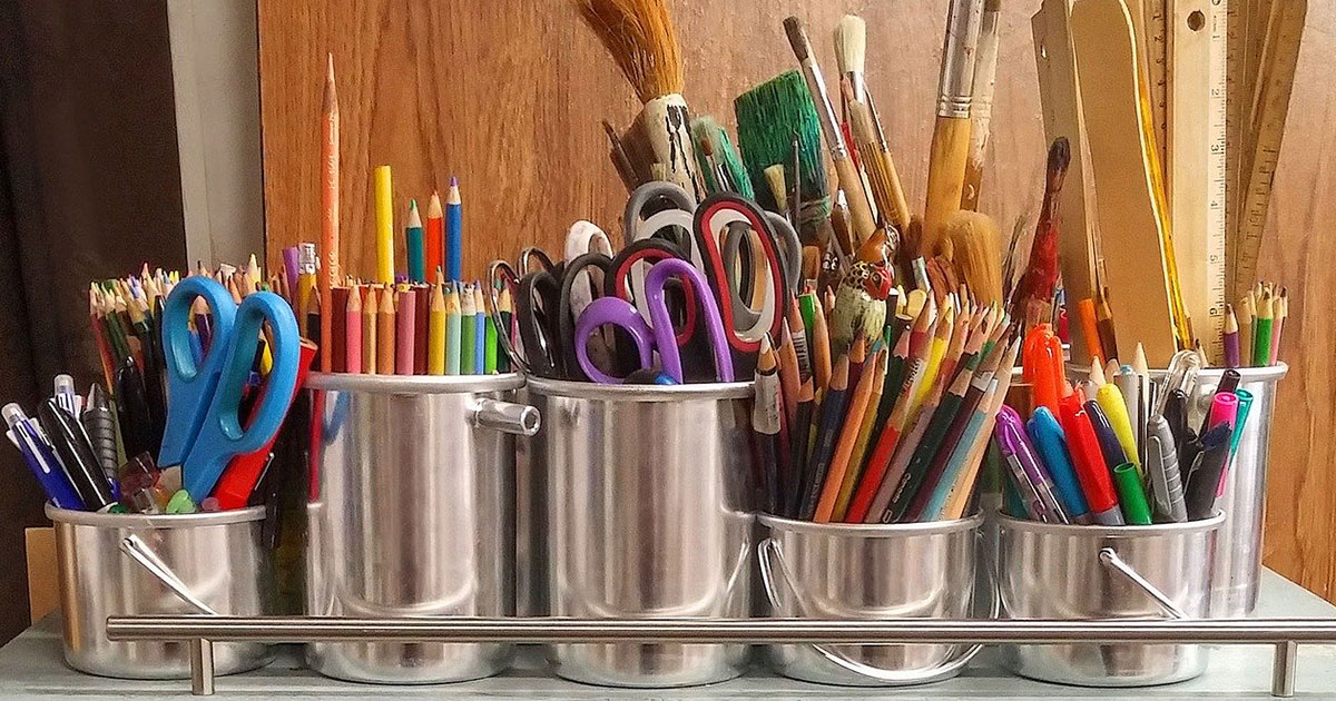 art supplies and crafting tools
