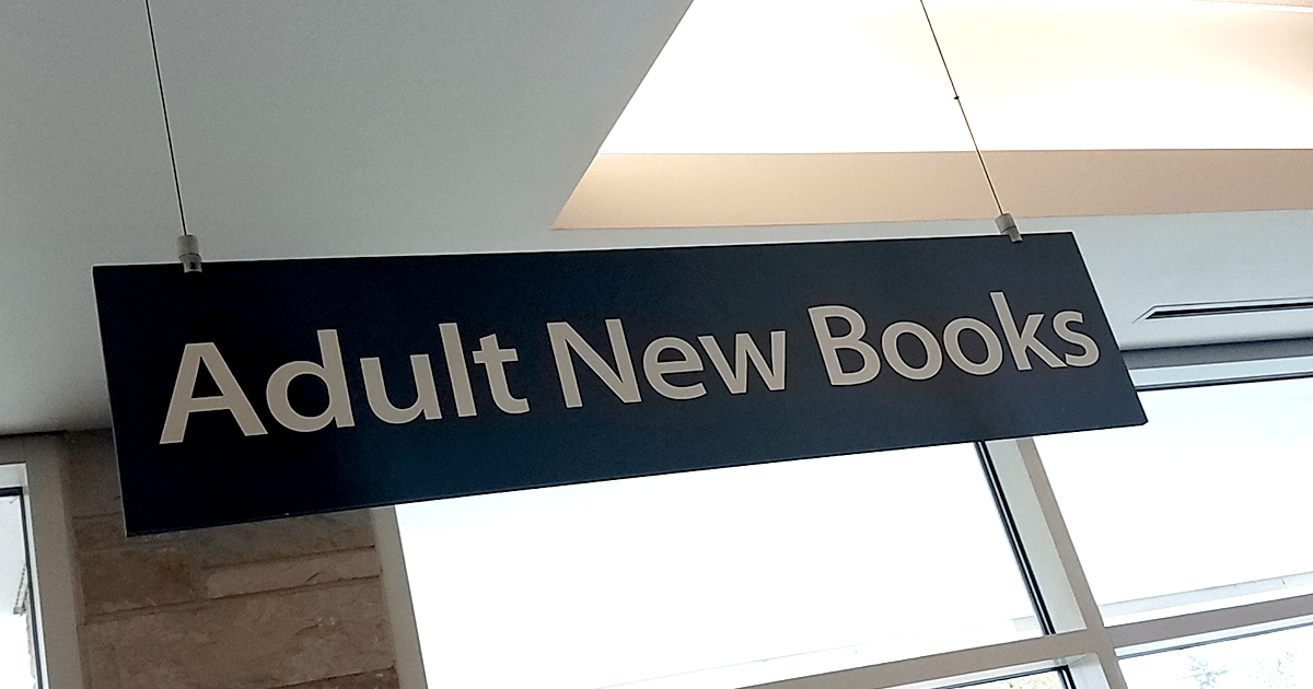 Adult New Books sign