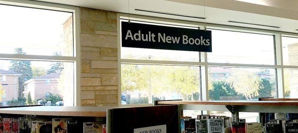 New Book sign at the Library