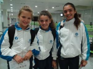 Thaís Daroca, Inés Fernande y Júlia Florit en el TTR del 07-11-2015