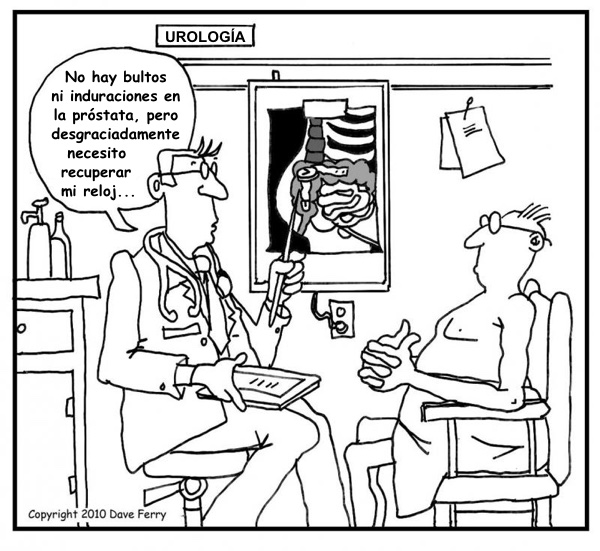 examen de próstata humor