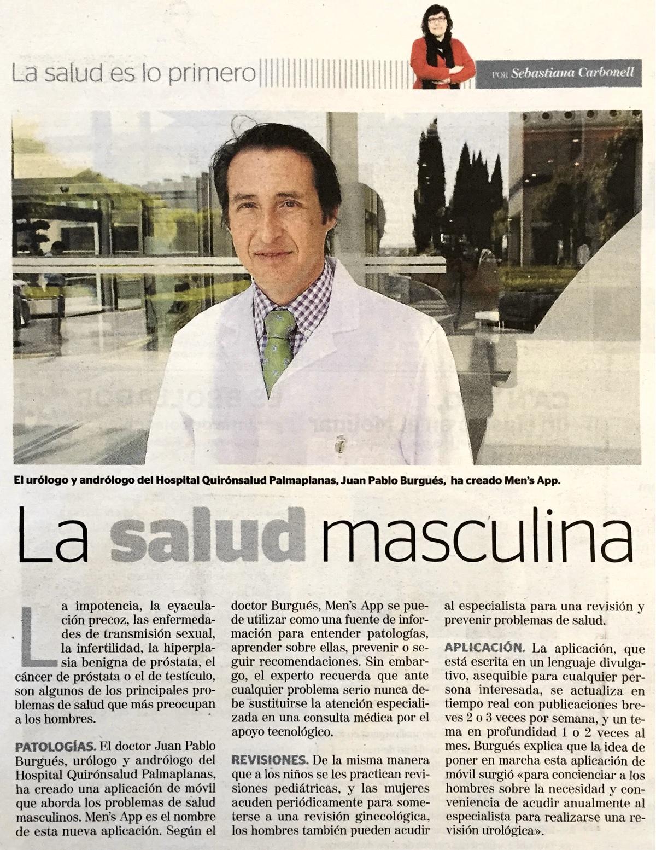 La salud masculina
