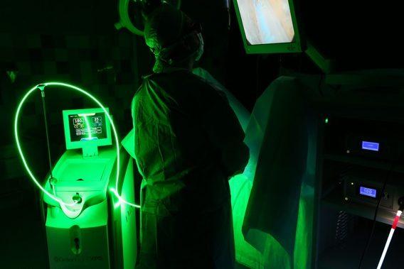 próstata láser verde que tiene