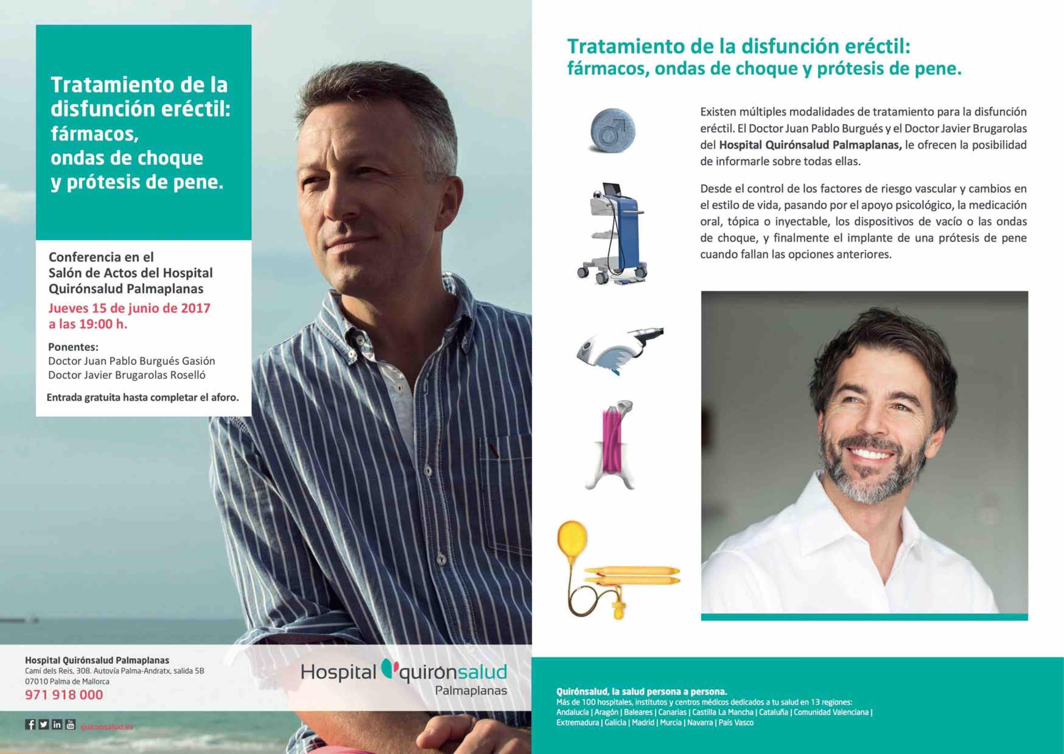 Conferencia para pacientes sobre tratamientos para la disfunción eréctil