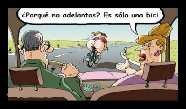detrás de bicicleta