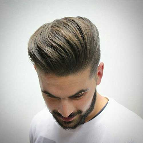 Short Round Mohawk Men Hairstyle Face
