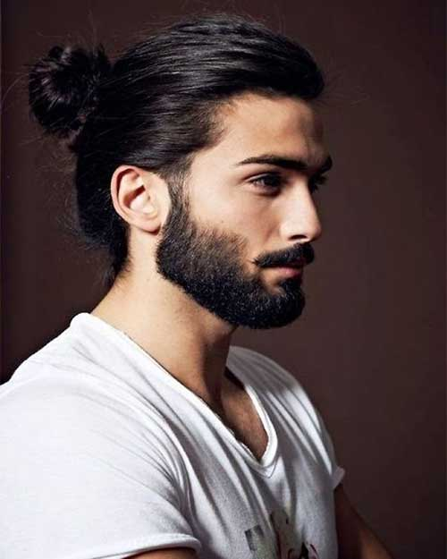 Marvelous Man Ponytail Hairstyle