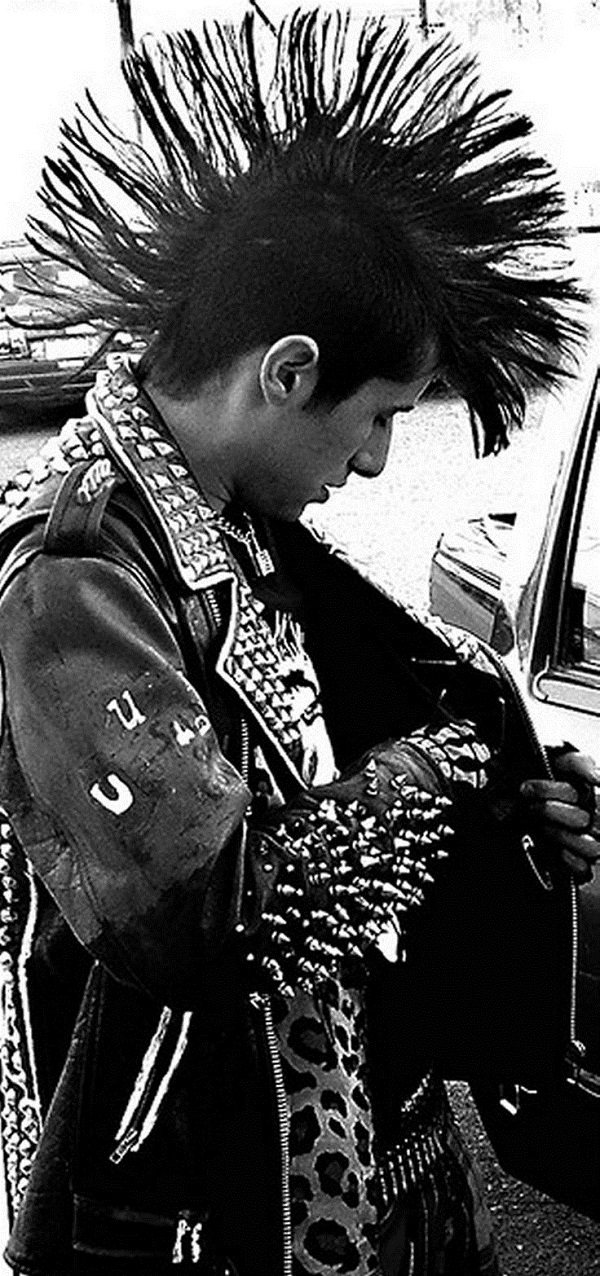 1980 Mens Hairstyle Mohawk