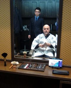 Japanese barber shop mirror