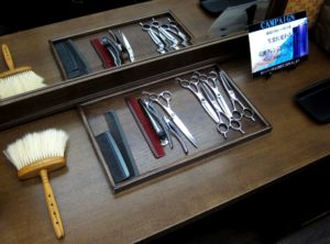 Japanese barber shop tools