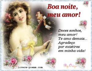 mensagem de boa noite meu amor