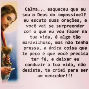 Jesus Deus do impossivel