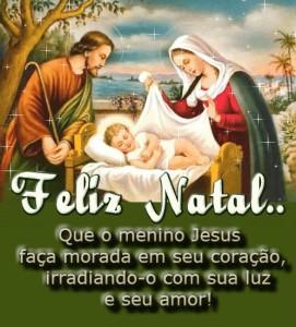 feliz natal que o  menino jesus