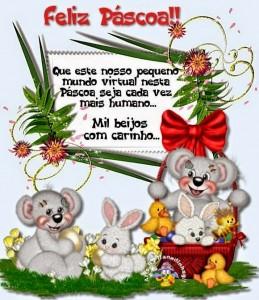 mensagem feliz Páscoa com muito carinho e amor