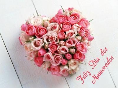 feliz dia dos namorados com flores