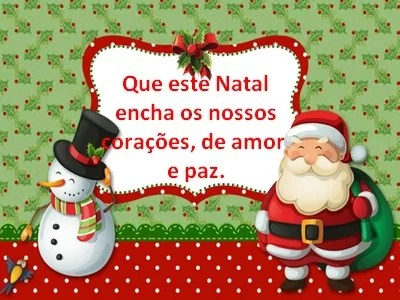 mensagens feliz natal curtas com carinho para whatsapp