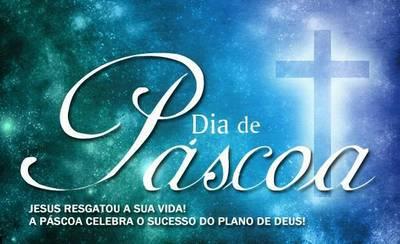 mensagem cristã de feliz Páscoa para amigos e familiares