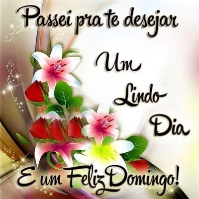 Feliz domingo-te desejo um lindo dia